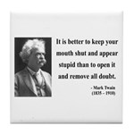 Mark Twain 41 Tile Coaster