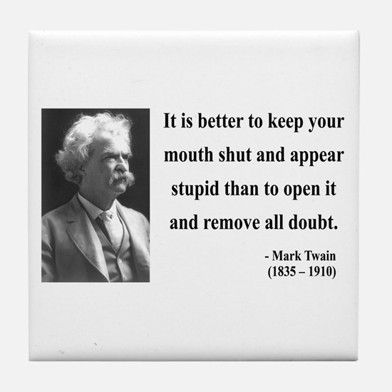 Mark Twain 41 Tile Coaster