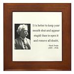 Mark Twain 41 Framed Tile