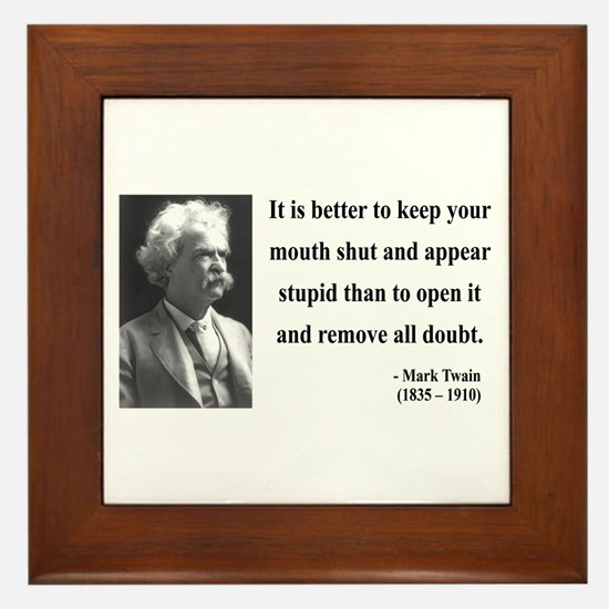 Mark Twain 41 Framed Tile