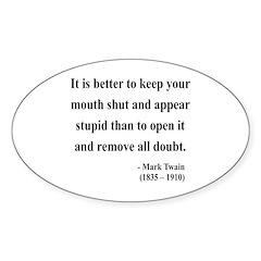 Mark Twain 41 Oval Sticker