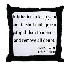 Mark Twain 41 Throw Pillow