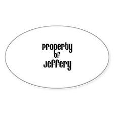 Property of Jeffery Oval Decal