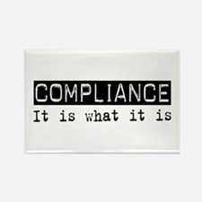 Compliance Is Rectangle Magnet (100 pack)