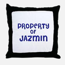 Property of Jazmin Throw Pillow