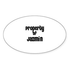 Property of Jazmin Oval Decal