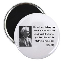 Mark Twain 42 Magnet