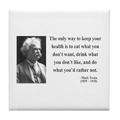 Mark Twain 42 Tile Coaster