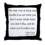Mark Twain 42 Throw Pillow