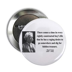 "Mark Twain 43 2.25"" Button (100 pack)"