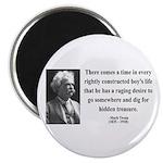Mark Twain 43 Magnet