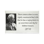 Mark Twain 43 Rectangle Magnet (10 pack)