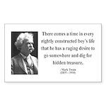 Mark Twain 43 Rectangle Sticker