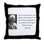 Mark Twain 43 Throw Pillow