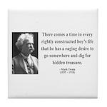 Mark Twain 43 Tile Coaster