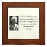 Mark Twain 43 Framed Tile