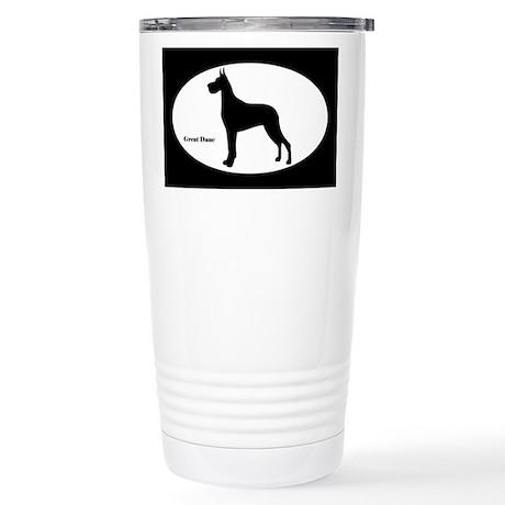 Great Dane Silhouette Stainless Steel Travel Mug