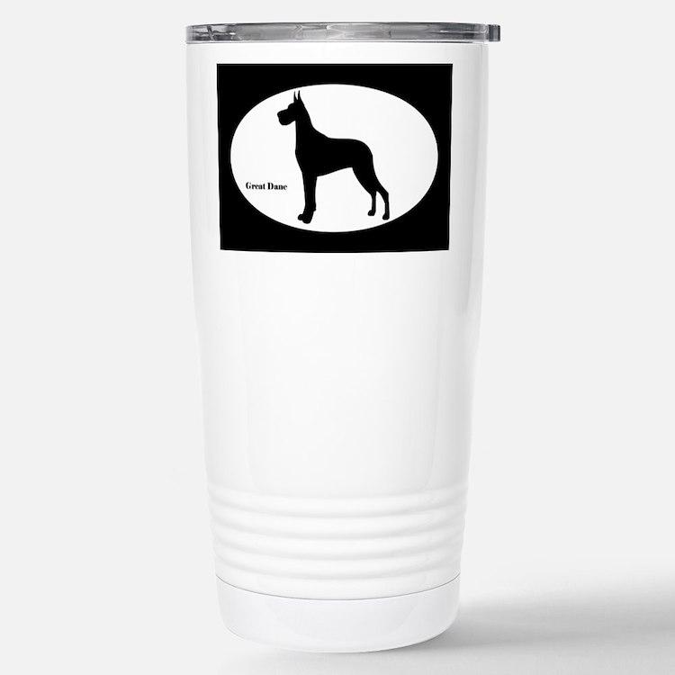 Great Dane Silhouette Travel Mug