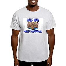 Half Man Half Narwhal T-Shirt