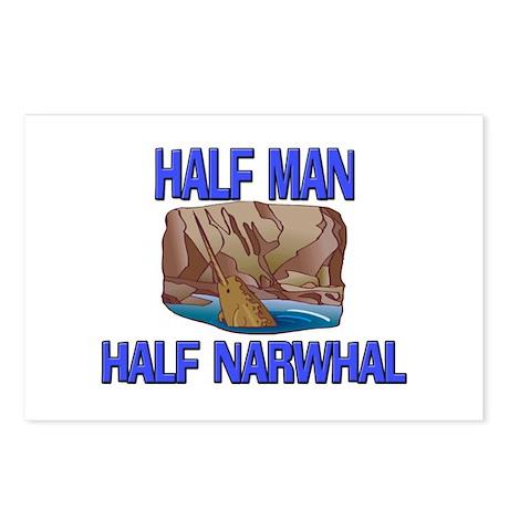 Half Man Half Narwhal Postcards (Package of 8)