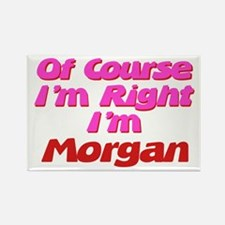 Morgan Is Right Rectangle Magnet