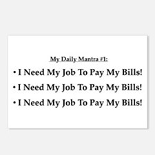 I Need My Job! Postcards (Package of 8)