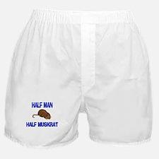 Half Man Half Muskrat Boxer Shorts