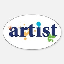 """""""Artist"""" Oval Decal"""