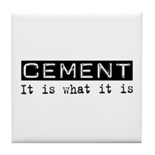 Cement Is Tile Coaster