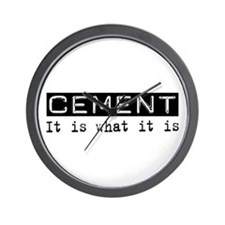 Cement Is Wall Clock