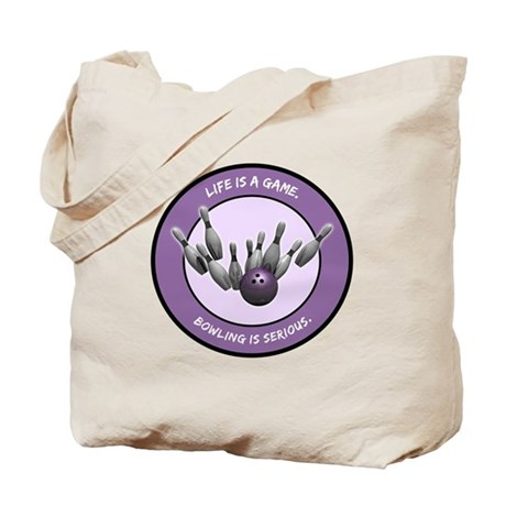 """""""Bowling is Serious"""" Tote Bag"""