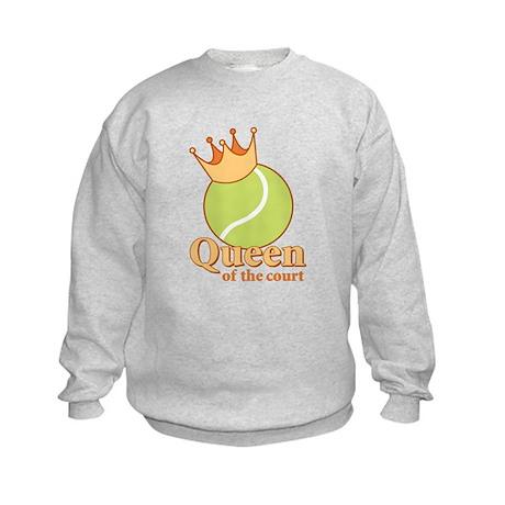"""""""Queen of the Court"""" Kids Sweatshirt"""
