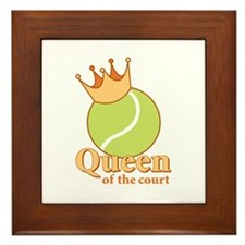 """Queen of the Court"" Framed Tile"