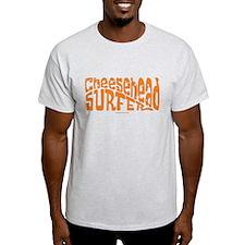 CheeseHead Surfer (orange art T-Shirt