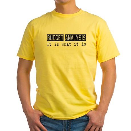 Budget Analysis Is Yellow T-Shirt
