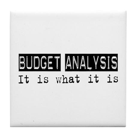 Budget Analysis Is Tile Coaster