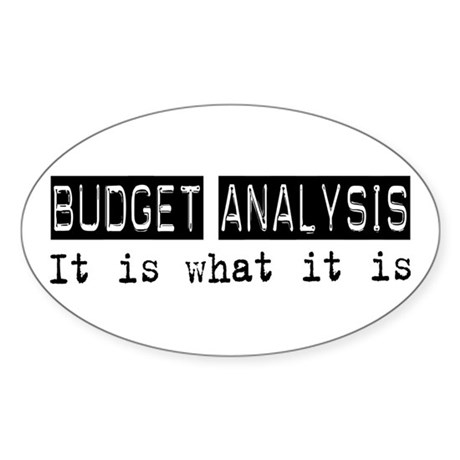 Budget Analysis Is Oval Sticker