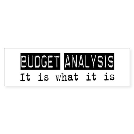 Budget Analysis Is Bumper Sticker