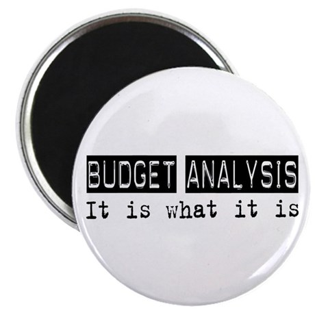 "Budget Analysis Is 2.25"" Magnet (100 pack)"