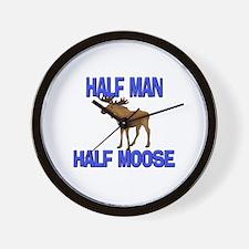 Half Man Half Moose Wall Clock