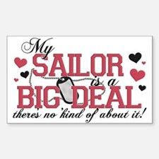 My Sailor Is A Big Deal Rectangle Decal