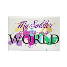 My Soldier Colors My World Rectangle Magnet