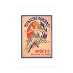 Quinquina Dubonnet Rectangle Sticker 10 pk)