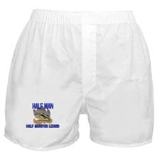 Half Man Half Monitor Lizard Boxer Shorts