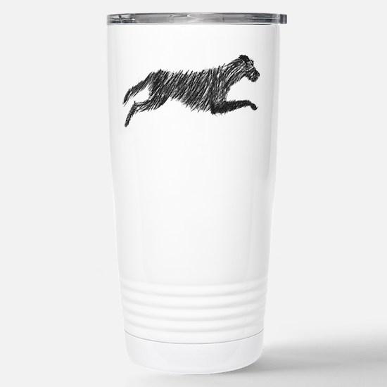 Irish Wolfhound Stainless Steel Travel Mug
