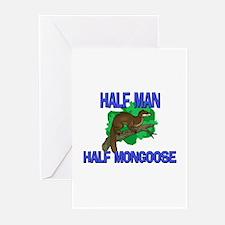 Half Man Half Mongoose Greeting Cards (Pk of 10)