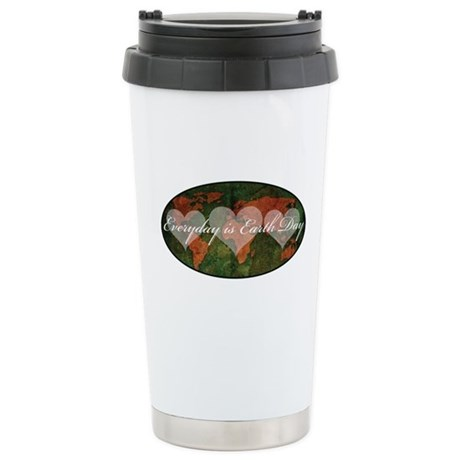 Everyday is Earth day Stainless Steel Travel Mug