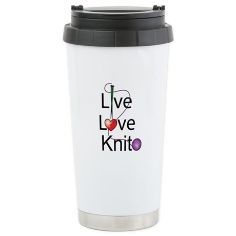 Live Love KNIT Stainless Steel Travel Mug