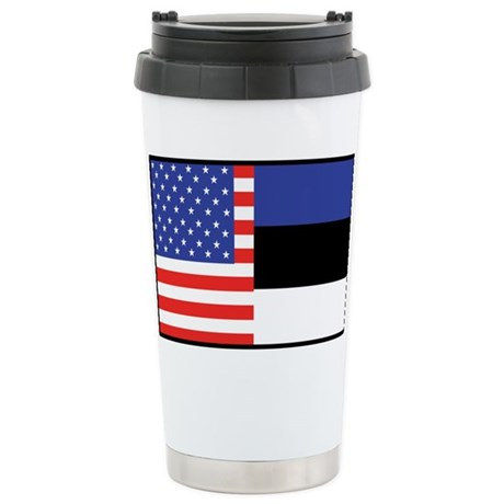 USA/Estonia Stainless Steel Travel Mug