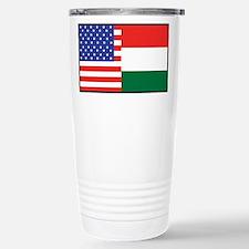 USA/Hungary Travel Mug